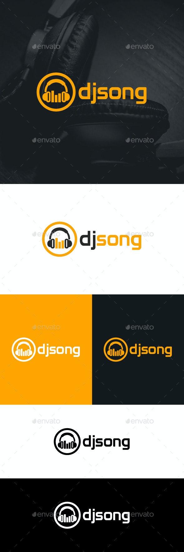 DJ Song Logo Template - Symbols Logo Templates