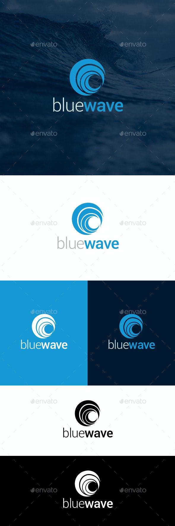 Blue Wave Logo Template - Symbols Logo Templates