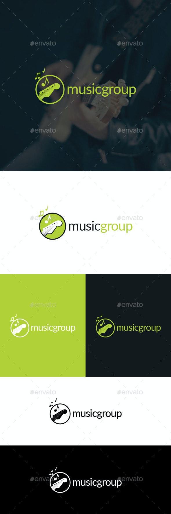 Music Group Logo Template - Symbols Logo Templates