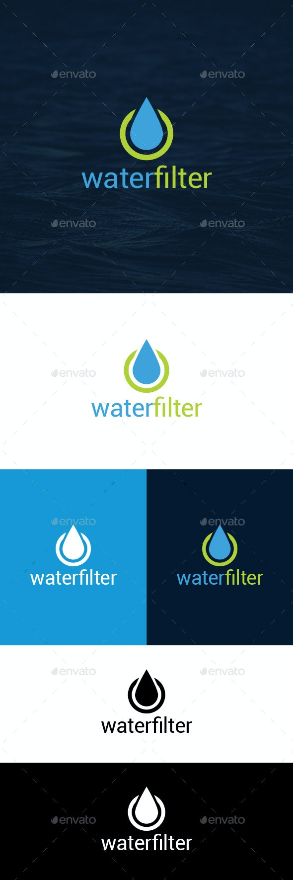 Water Filter Logo Template - Symbols Logo Templates