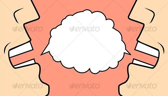 Two businessmen talking - Business Illustrations