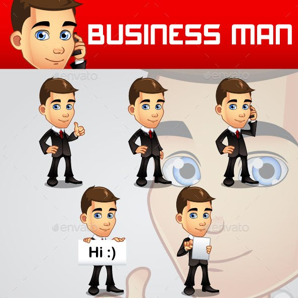 Business Man Mascot