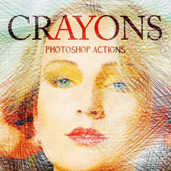 Crayons - Photoshop Actions