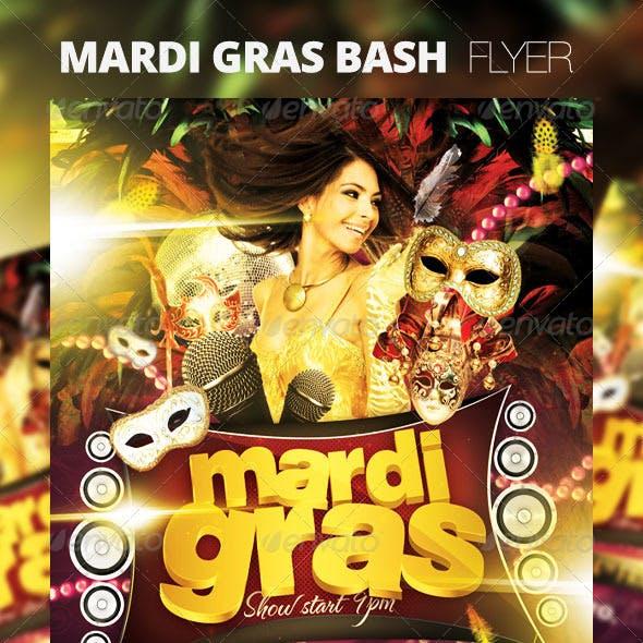 Mardi Gras Bash Flyer Vol_1