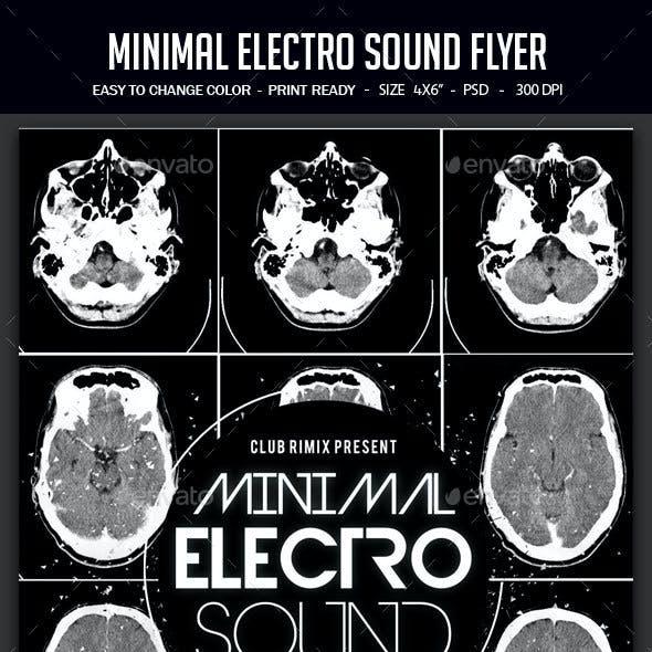 Minimal Electro Sound Flyer