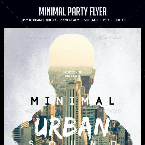 Minimal Party Flyer