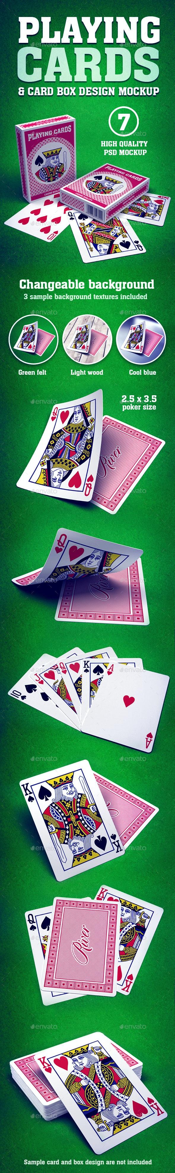 Playing Cards & Box Mockup - Miscellaneous Print