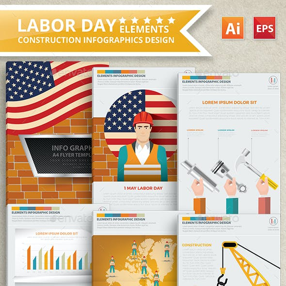 Labor Day Infographics Design