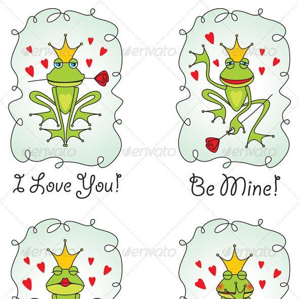 set greeting valentine's day card