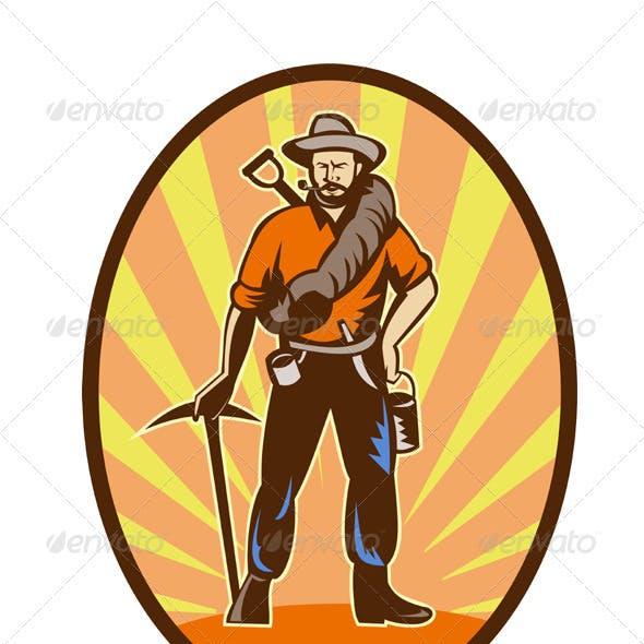Gold Digger MIner Prospector Retro