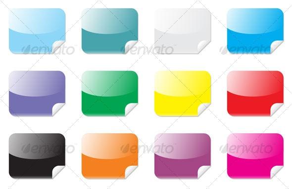 rectangle stickers - Web Technology