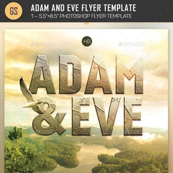 Adam Eve Flyer Template
