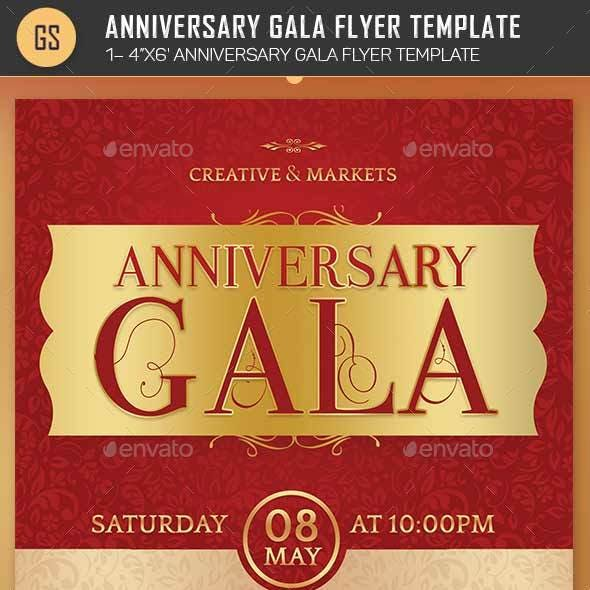Anniversary Gala Flyer Template