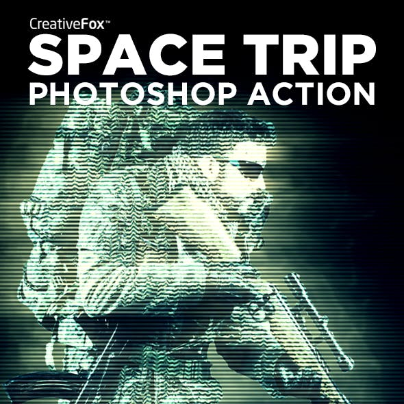 Space Trip Photoshop Action - Hologram Effect Creator
