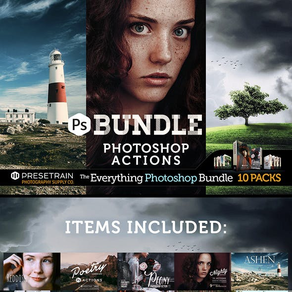 Pro Photoshop Actions Bundle by Presetrain Co.