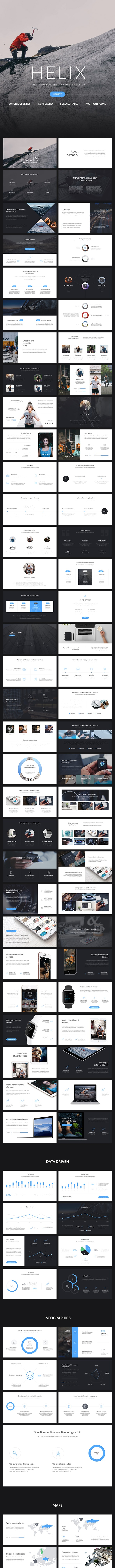 Helix PowerPoint Presentation - PowerPoint Templates Presentation Templates