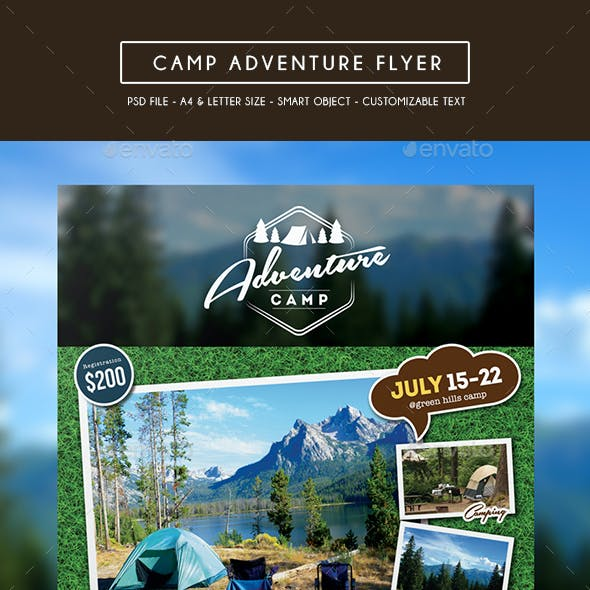 Camping Adventure Flyer + Business Card