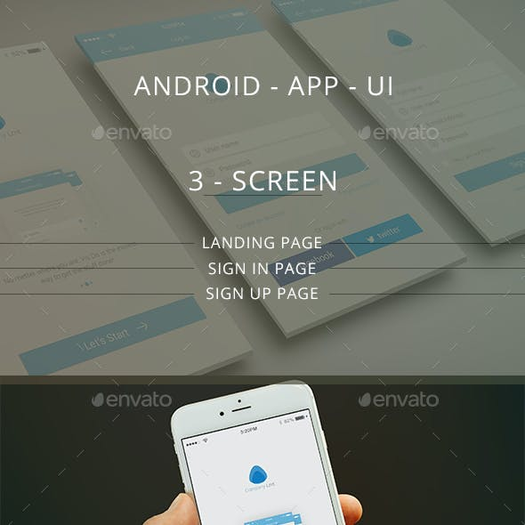 IOS / Mobile App UI / Landing/Log in/ Sign up page