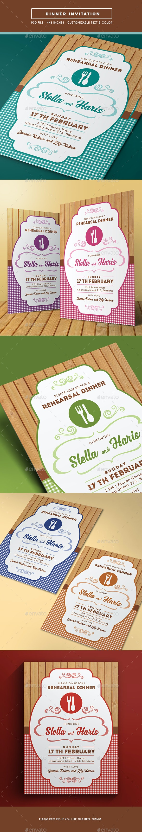 Dinner Invitation - Invitations Cards & Invites
