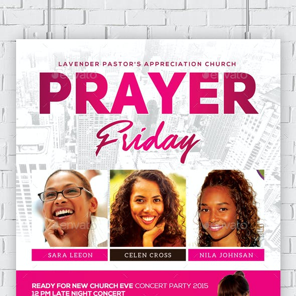 Women of Prayer Church Flyer Template
