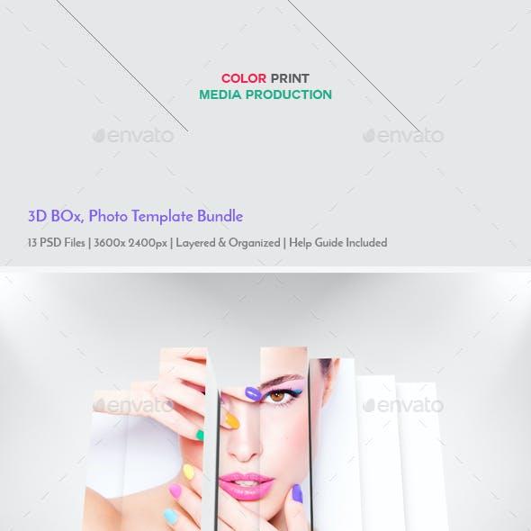 3D Photo Box Template Bundle V-2
