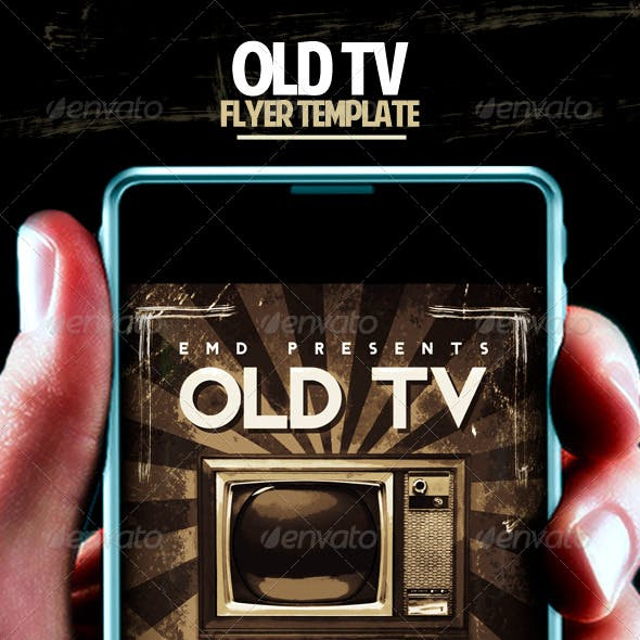 Old TV Flyer Template