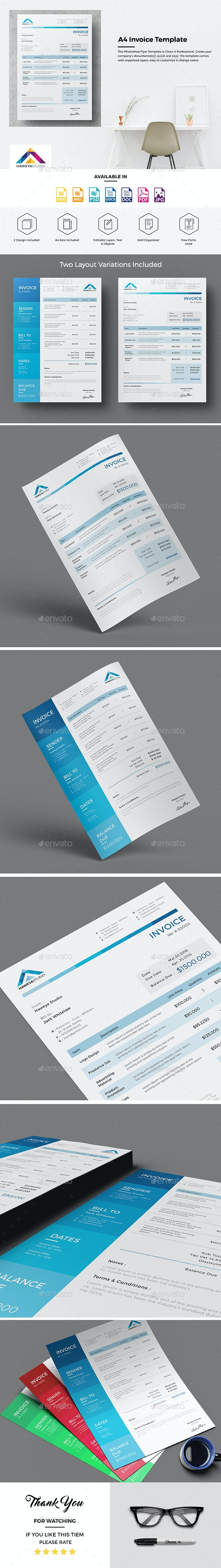 Haweya Invoice Template - Proposals & Invoices Stationery