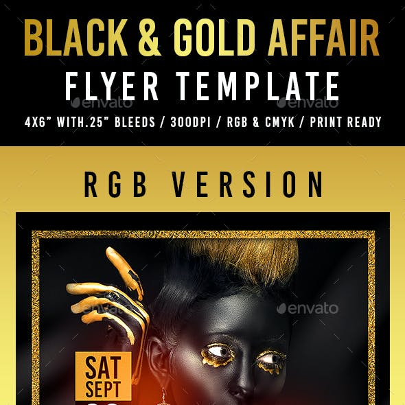 Black & Gold Affair Flyer Template