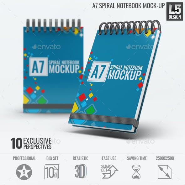 A7 Spiral Notebook Mock-Up