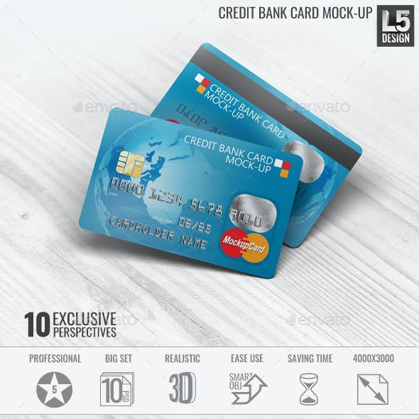 Credit Bank Card Mock-Up