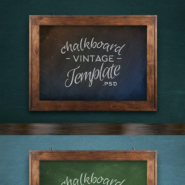 Chalkboard Realistic Template