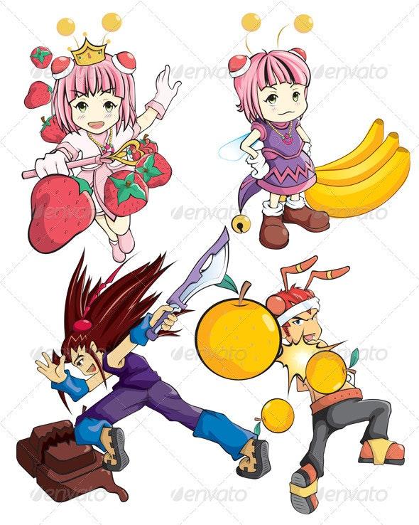 Cute Super Hero - Characters Vectors