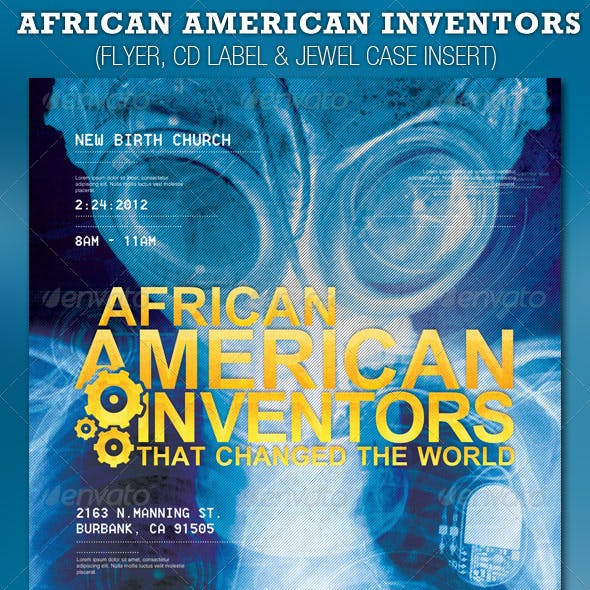 African American Inventors Church Flyer and CD