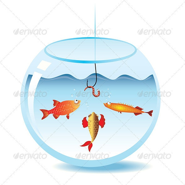 Fishing in fishbowl - Animals Characters