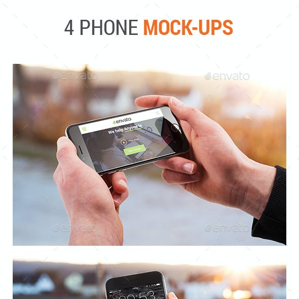 4 Phone Mock-Ups