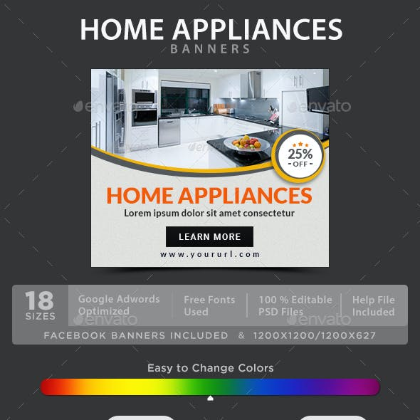Home Appliances Banners By Hyov Graphicriver
