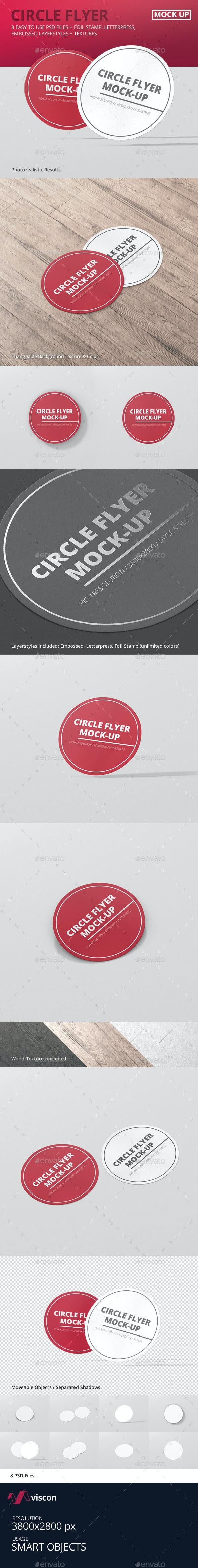Circle Flyer Mockup - Miscellaneous Print