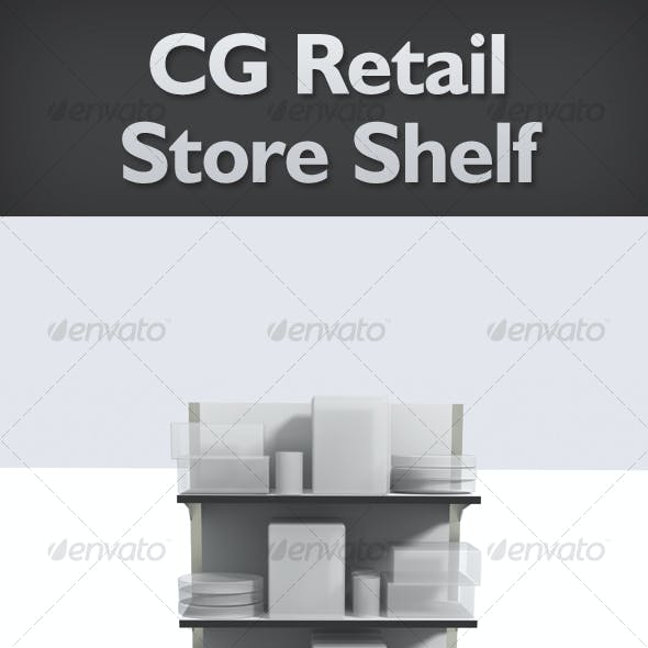 Realistic CG Retail Shelves - Product/Signage