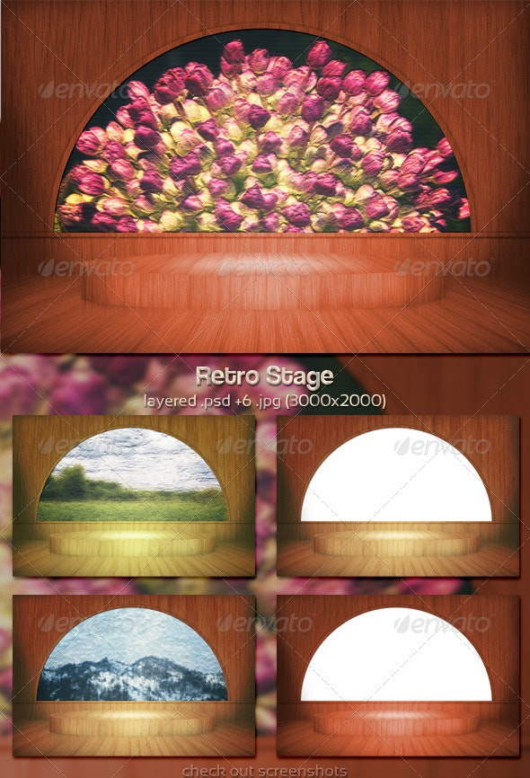 Retro Stage - 3D Backgrounds