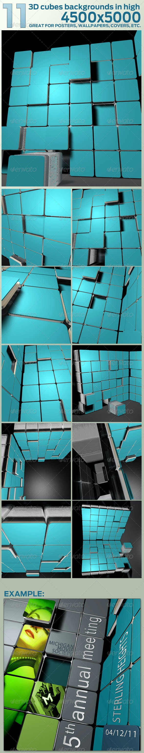 3D Backgrounds in Huge 4500x5000 res. - 3D Backgrounds