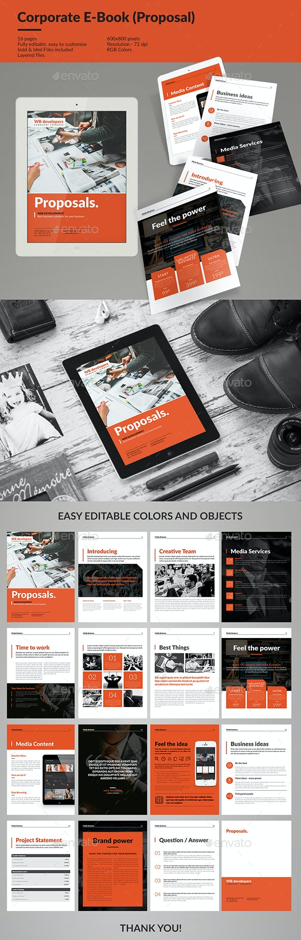 Corporate E-book Template Vol.6 - Digital Books ePublishing