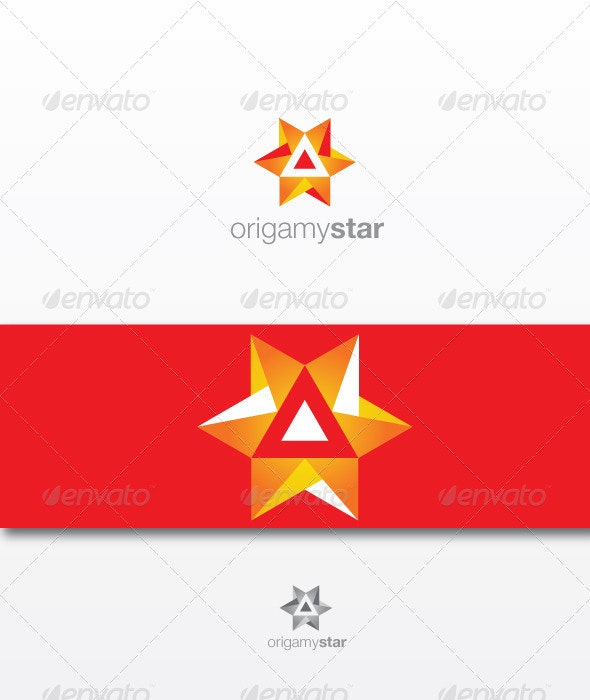 Origami Star - Vector Abstract