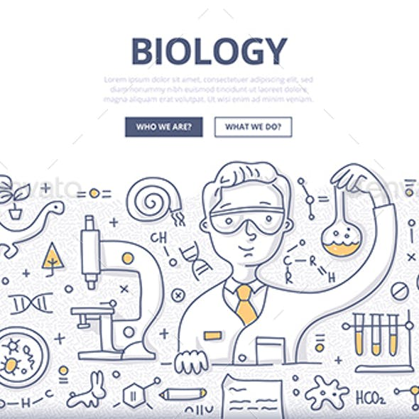 Biology Doodle Concept