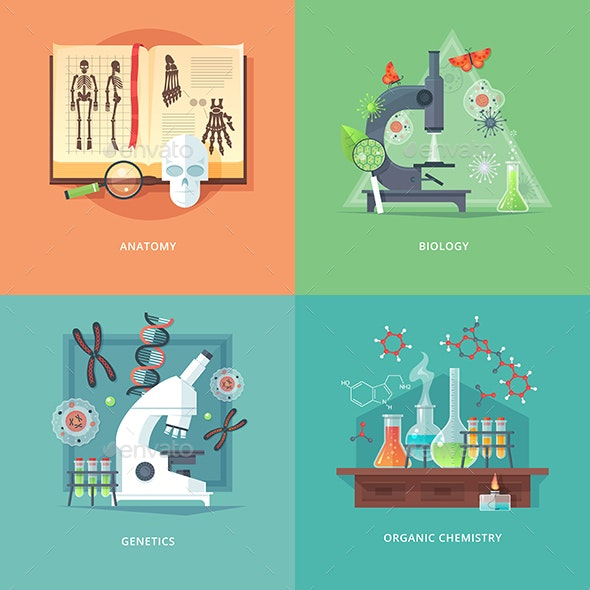 Education and Science Banners - Miscellaneous Vectors
