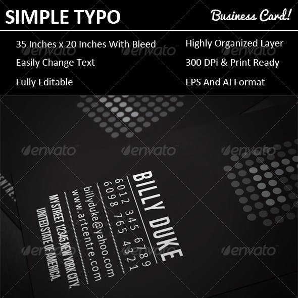 Simple Typo Business Card