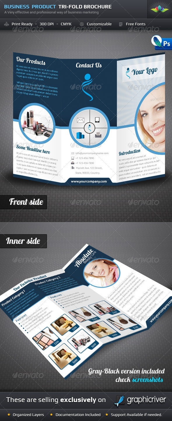 Business Product Tri Fold Brochure - Corporate Brochures