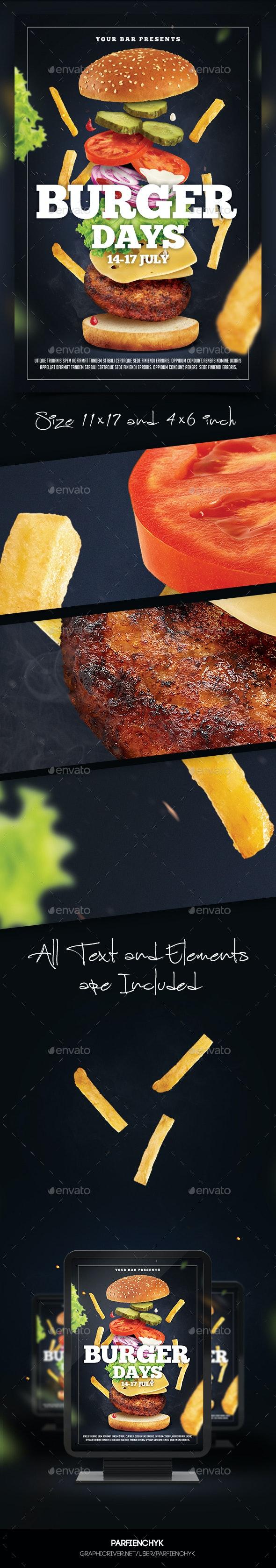 Burger Flyer Template - Restaurant Flyers