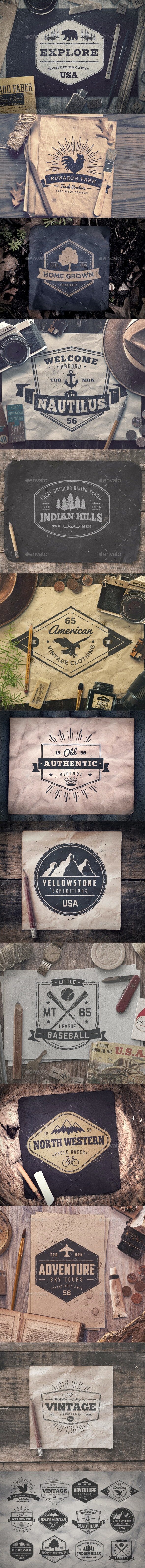 Worn Out Vintage Badges and Logos Vol1 - Badges & Stickers Web Elements