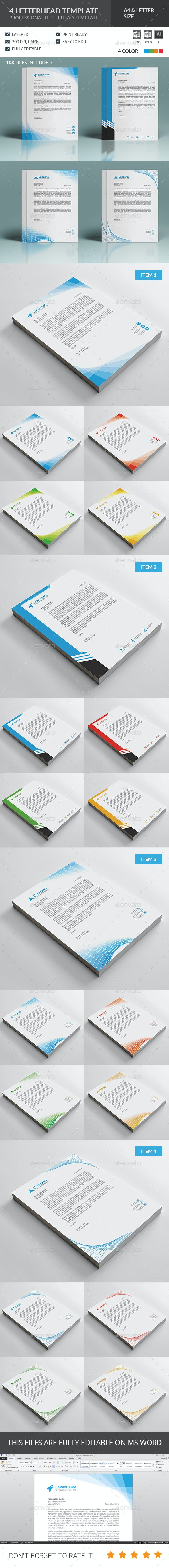 Letterhead Template Bundle - Stationery Print Templates