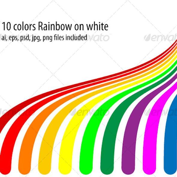 10 colors rainbow